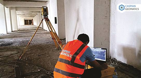 Engineering-geodesy (Executive survey) work implementation project in non-residential building