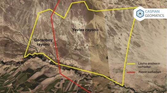 """IMPLEMENTATION OF TOPOGRAPHIC WORKS ON 3,200 HECTARE AREA OF YEVLAKH AND GORANBOY DISTRICTS"""